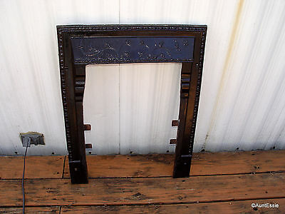Antique Fireplace Surround Ornate Cast Iron