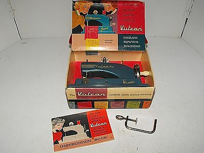 Vintage Vulcan junior Child's Sewing Machine Toy In Exc Condition With Box