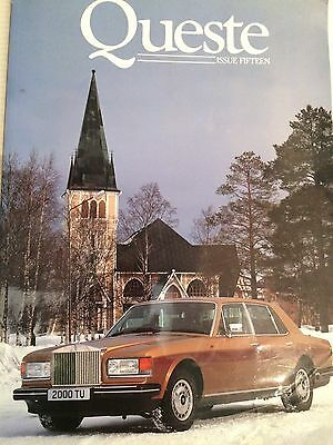 Rolls Royce &  Bentley genuine official vintage owners' private magazine, Queste