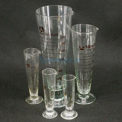 5-1000ml Lab Glass Footed Apothecary Measuring Cone Beaker Conical Graduated