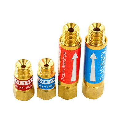 4* Oxygen/Acetylene FLASHBACK ARRESTOR + CHECK VALVE Set Torch Welding Cutting S
