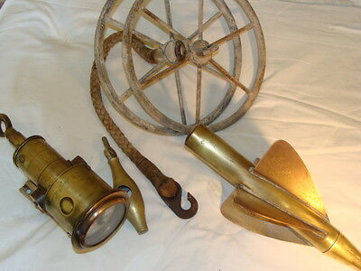 antique brass and copper ships log