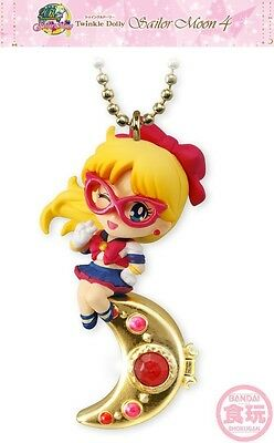 Bandai Sailor Moon Twinkle Dolly 4 Sailor V Silver Crystal Charm Chain Figure