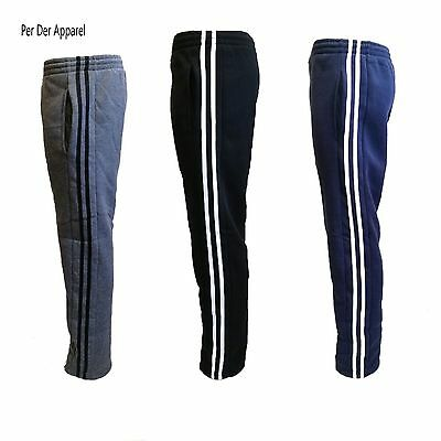 Men's Fleece Lined Casual Track Pants Trackies Joggers