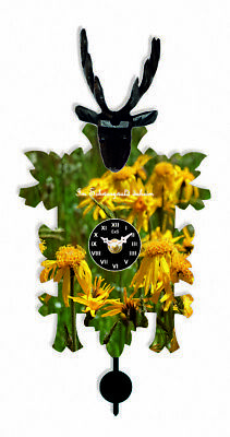 Kuckulino Black Forest Clock with quartz movement and cuckoo ch.. TU 3026 PQ NEW