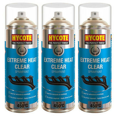 Hycote Very High Temperature Clear 3 Spray Cans Paint 400ml