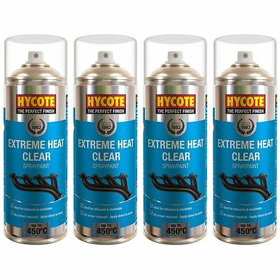 Hycote Very High Temperature Clear 4 Spray Cans Paint 400ml