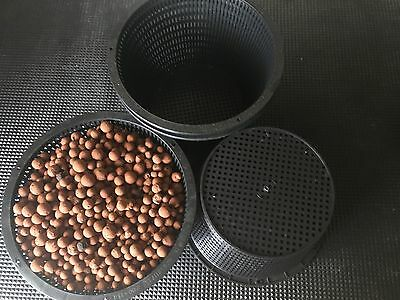 3 Sizes - Mesh Pots & Clay Beads Hydro & Semi Hydro for Plants & Orchids