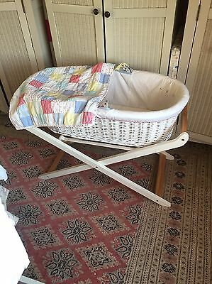 Little Bird At Mothercare Moses Basket And Stand