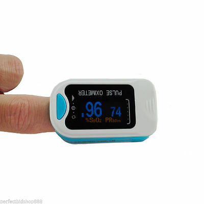 Promotion Finger Pulse Oximeter Fingertip Blood Oxygen SpO2 PR Monitor FDA -Blue
