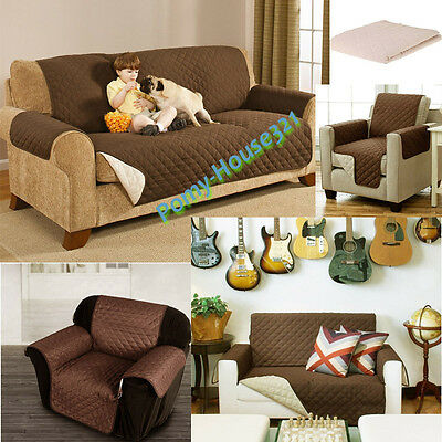 1/2/3 Seaters Deluxe Reversible Recliner Furniture Loveseat Protector Sofa Cover