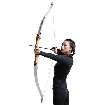 "IRQ Archery Takedown Recurve Bow 54"" Wood Longbow Target Hunting Larp CS Game"