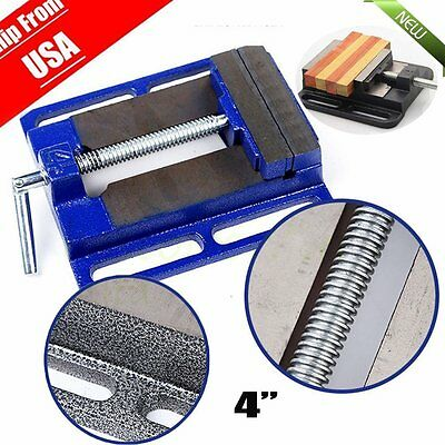 """Mini Drill Press Table Vise Tool Flat Metal Cast Iron Handy For 4"""" Bench Drill S"""