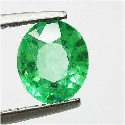 3.05ct TWINKLING DIFFUSION COLOUMBIAN GREEN EMERALD CHATHUM ANTIQUE OVAL CUT GEM