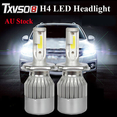 252W H4 HB2 9003 High/Low Beam LED Car Headlight Kit Globes Bulbs 6000K White AU