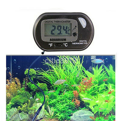 Digital LCD Tank Aquarium Marine Water Terrarium Thermometer Temperature new AU