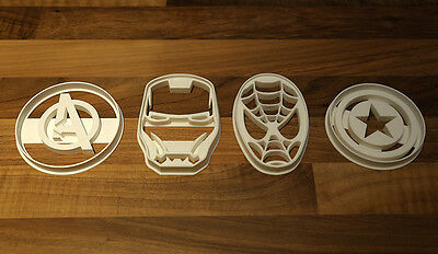 Marvel Cookie Cutter Set, Spiderman, Captain America, Iron Man, Avengers Set