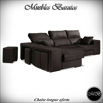 Sofas chaise longue salon sofa cheslong comedor + mueble extra ref-17