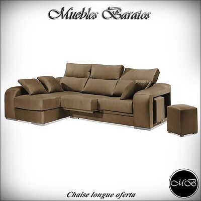 Sofas chaise longue salon sofa cheslong comedor + mueble extra ref-18