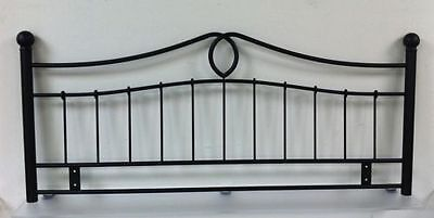 4ft6 Double Metal Headboard for Bed in black finish BRAND NEW