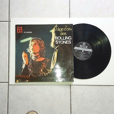 LP 33 T French    Press : STONES :FLOWERS  -L' AGE D'OR VOL 12