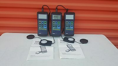 Lot of  3   EXTECH 407026 Foot Candle/Lux Meter
