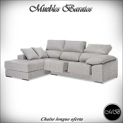 Sofas chaise longue salon sofa cheslong comedor + mueble extra ref-23