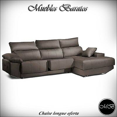 Sofas chaise longue salon sofa cheslong comedor + mueble extra ref-24