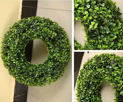 artificial Wreath fake Boxwood grass garland faux topiary tree plant 20-38cm new