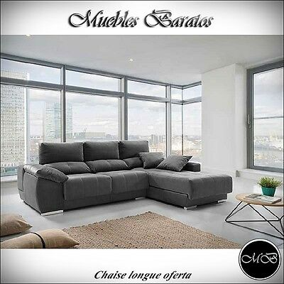Sofas chaise longue salon sofa cheslong comedor + mueble extra ref-32