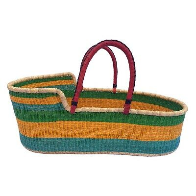 Handwoven Coloured Moses Basket