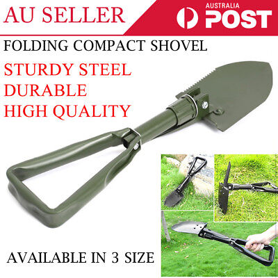 Folding Shovel Survival Multi Tools Pouch Outdoor Garden Camping Hiking 3 Sizes