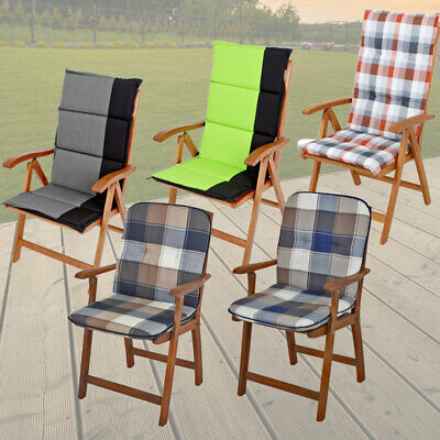 High chair Seat pad Garden furniture pads Low back Chair cushions Checkered