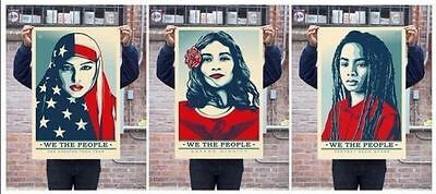 Shepard Fairey・We The People・Full set・24X36 . Not Signed