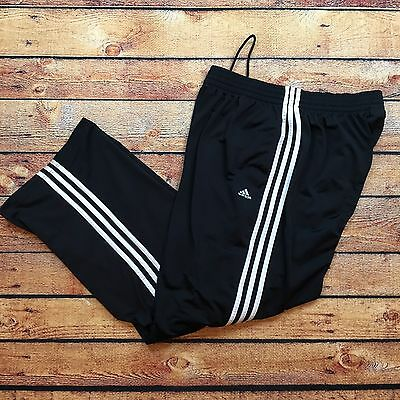 Vintage Adidas Track Jogging Pant Zip Ankle Nylon Xl Blue Navy Lined