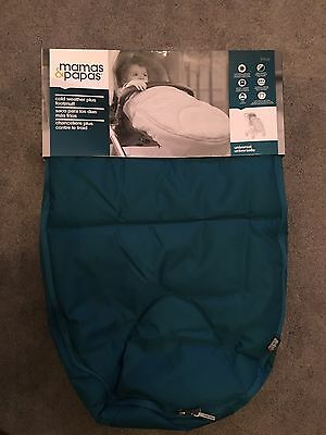 Mamas And Papas Universal Cold Weather Footmuff BNWT Teal