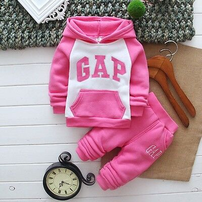 New!Girls warm GAP 2 pcs clothing set tracksuit outfit 4-5 years