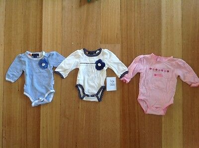 Size 0000 girls long sleeve body suits