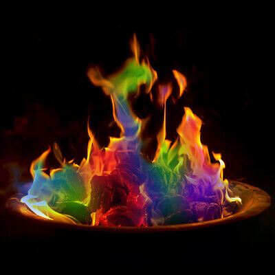 Magic Flames Colour Changing Mystical Fire Pit Burner Sachet Bonfire