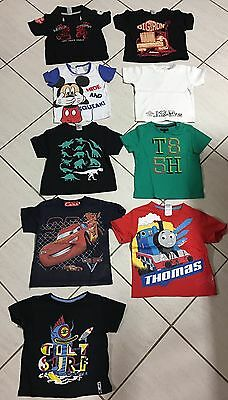 Baby Boys SIZE 1 Bulk Lot T-shirts Tops X 9 Great For Day Care