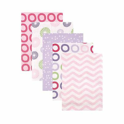 Luvable Friends Flannel Receiving Blankets Pink Pinwheel 5 Count