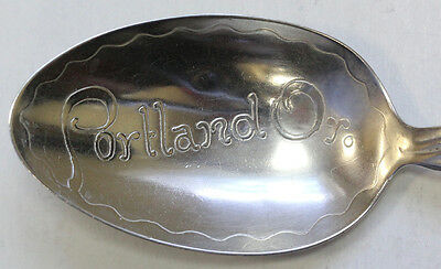 Antique Whiting Lily Of The Valley Sterling Silver Souvenir Teaspoon - Portland