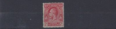 Turks & Caicos Is  1922       S G 174    2/-   Red Emerald        Mnh