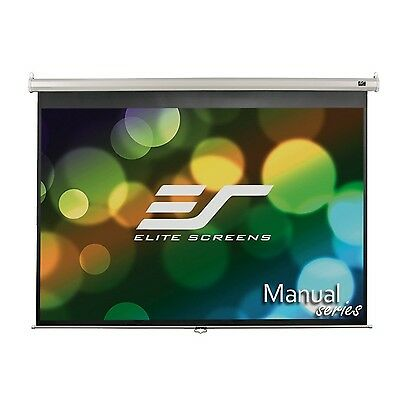Elite Screens Manual, 120-inch 4:3, Pull Down Projection Manual Projector Scr...