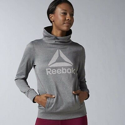 New Women's REEBOK Workout Ready Pullover Hoodie - AY1948 - MSRP $50