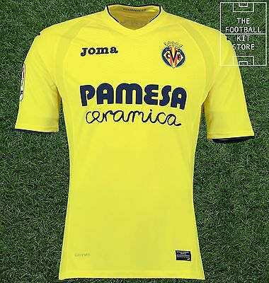 Villarreal Home Shirt 2016/17 - Official Joma Football Jersey - Mens - All Sizes