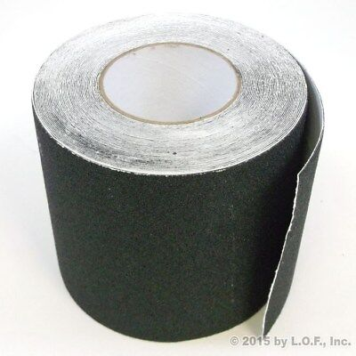 "6"" x 60' Safety Non Skid Grit Grip Tape Anti Slip Roll Black Sticker Adhesive"