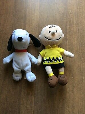 Peanuts 2015 Charlie Brown And Snoopy Bean Bag Plush