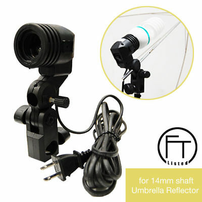 Photography Photo Studio Video Light Lamp Bulb Single Holder E27 Socket Bracket