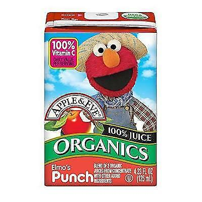 Apple and Eve Sesame Street Organics, Elmo's Punch, 4.23 oz, 36 Count New